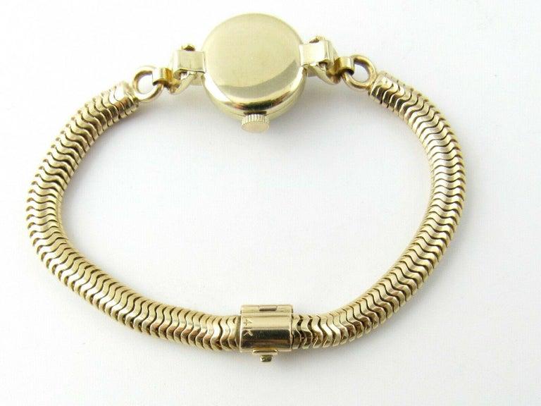 1960s Vacheron Constantin 14 Karat Yellow Gold Ladies Hand Winding Watch For Sale 1