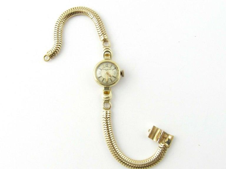 1960s Vacheron Constantin 14 Karat Yellow Gold Ladies Hand Winding Watch For Sale 4