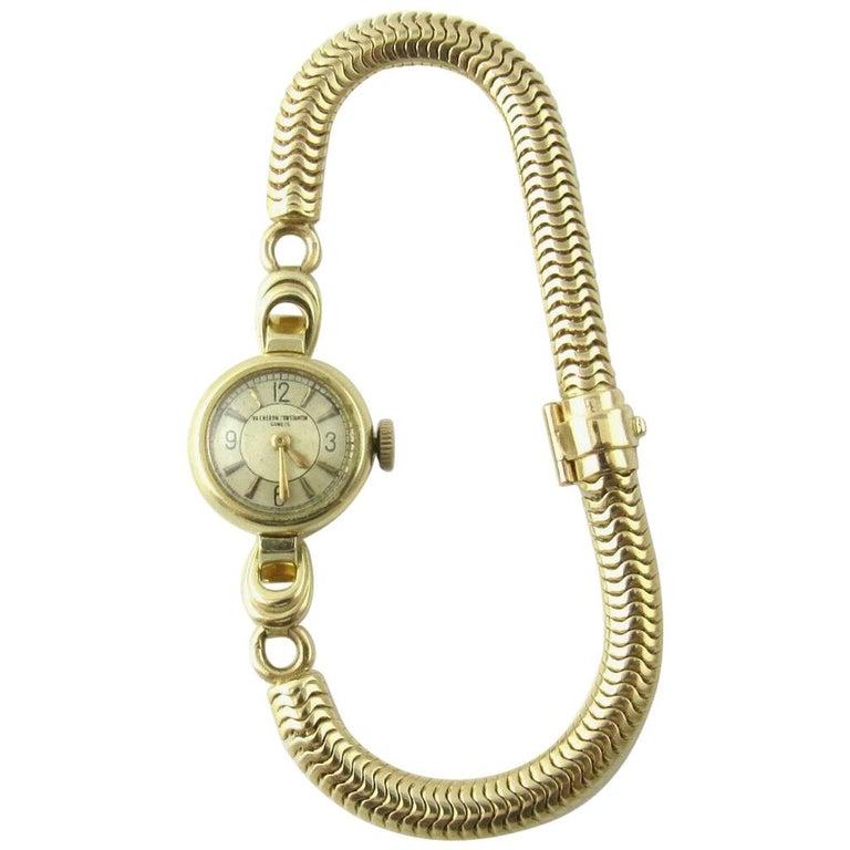 1960s Vacheron Constantin 14 Karat Yellow Gold Ladies Hand Winding Watch For Sale