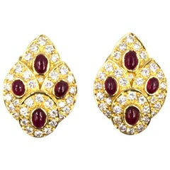 1960s Van Cleef & Arpels Diamond Ruby Estate Earrings