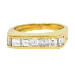 1960's Vintage 1.25 Carat 18 Karat Gold Stacking Band Ring