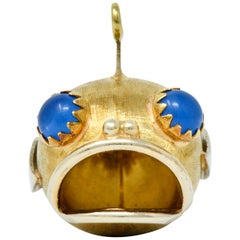 1960s Vintage 14 Karat Two-Tone Gold Fish Charm
