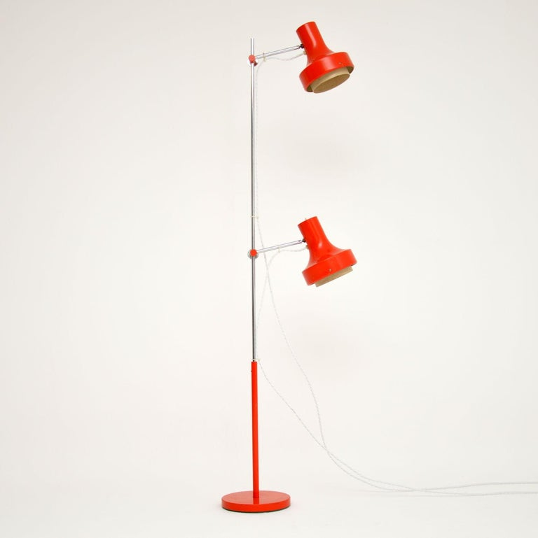 Mid-Century Modern 1960s Vintage Adjustable Floor Lamp For Sale