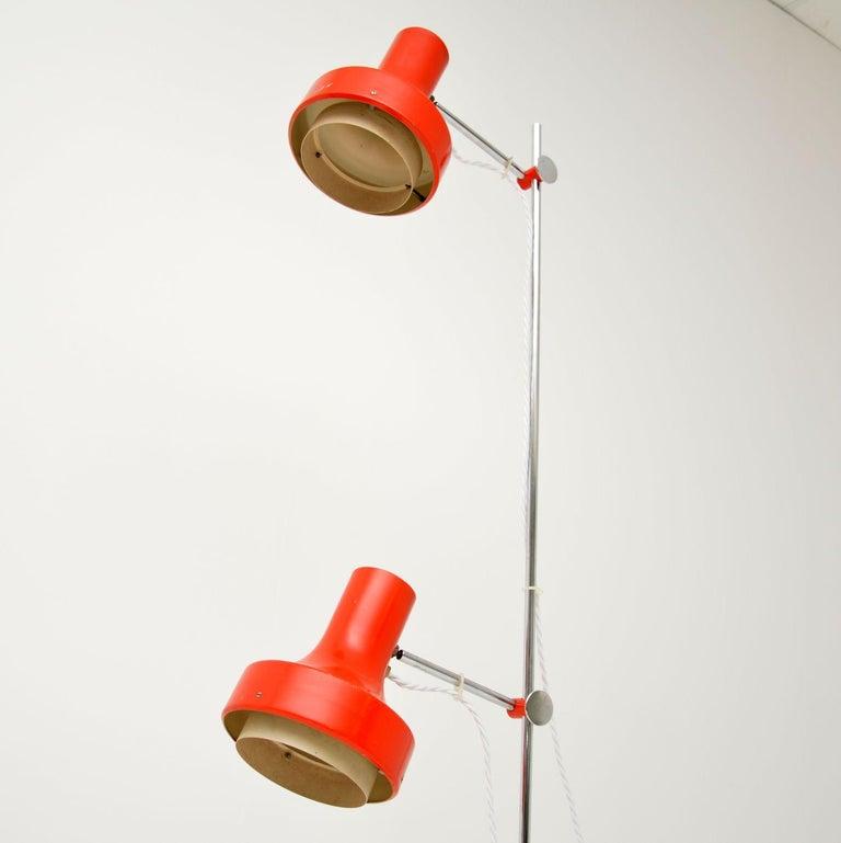 Metal 1960s Vintage Adjustable Floor Lamp For Sale