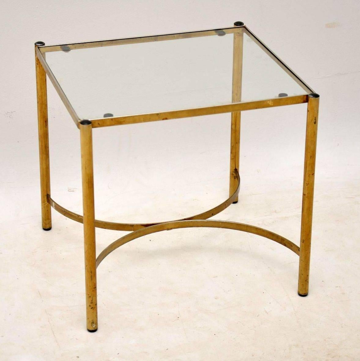 1960s Vintage Brass Coffee Table Or Side Tables In Good Condition For Sale  In London,