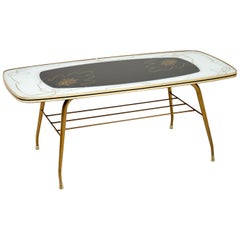 1960s Vintage Brass Coffee Table