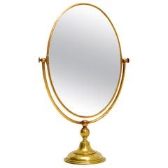 1960s Vintage Brass Vanity Mirror by Peerage