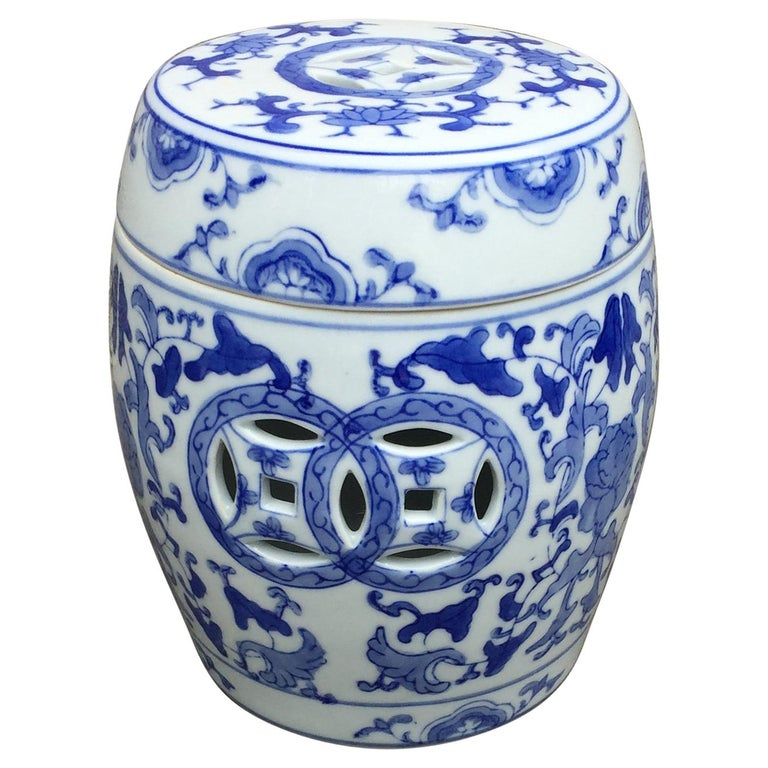 1960s Vintage Chinoiserie Ginger Jar For Sale