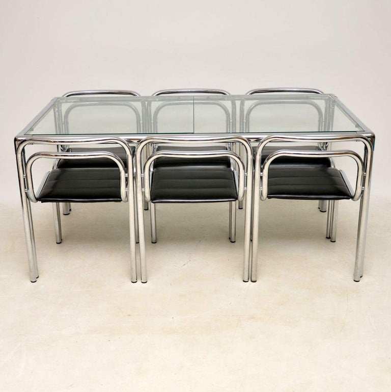 Chrome Dining Room Sets: 1960s Vintage Chrome Dining Table And Chairs By Rodney