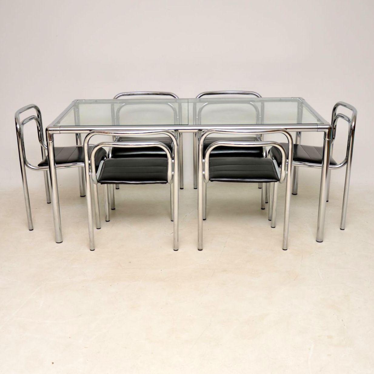 Incroyable 1960s Vintage Chrome Dining Table And Chairs By Rodney Kinsman For OMK