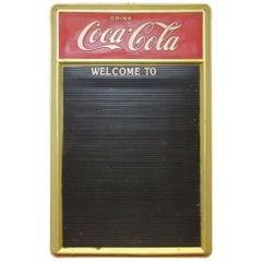 1960s Vintage Coca-Cola Masonite Plastic Menu Board