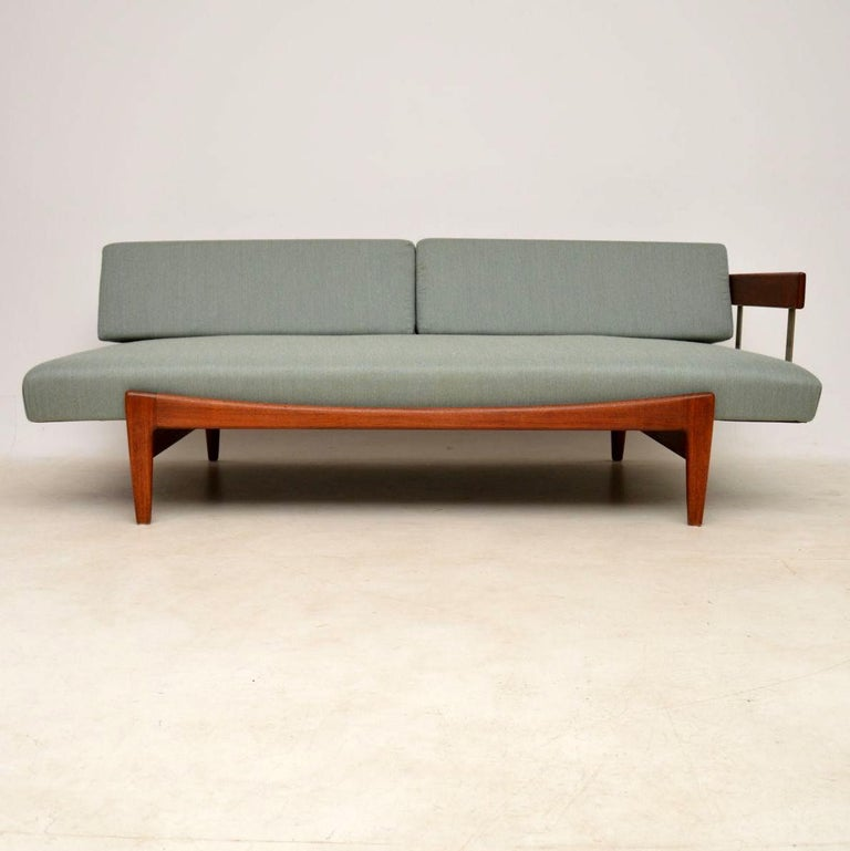 Mid-Century Modern 1960s Vintage Danish Teak Daybed/Sofa by Ib Kofod Larsen For Sale
