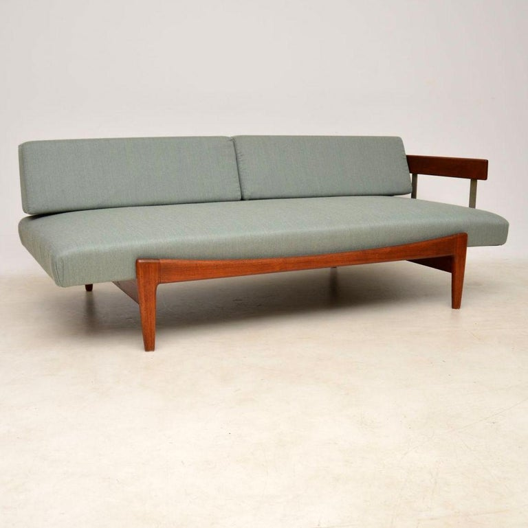 Mid-20th Century 1960s Vintage Danish Teak Daybed/Sofa by Ib Kofod Larsen For Sale