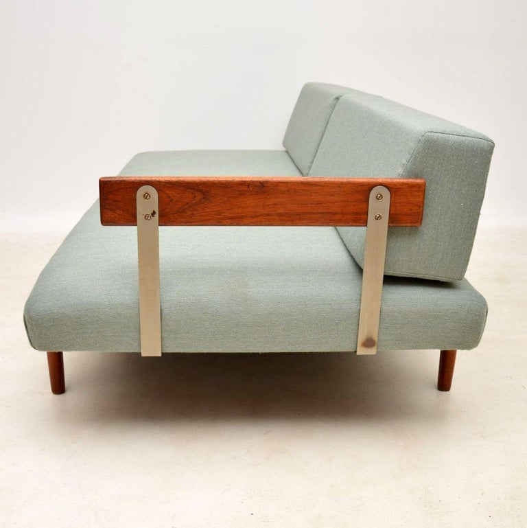 1960s Vintage Danish Teak Daybed/Sofa by Ib Kofod Larsen For Sale 4