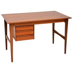 1960s Vintage Danish Teak Desk