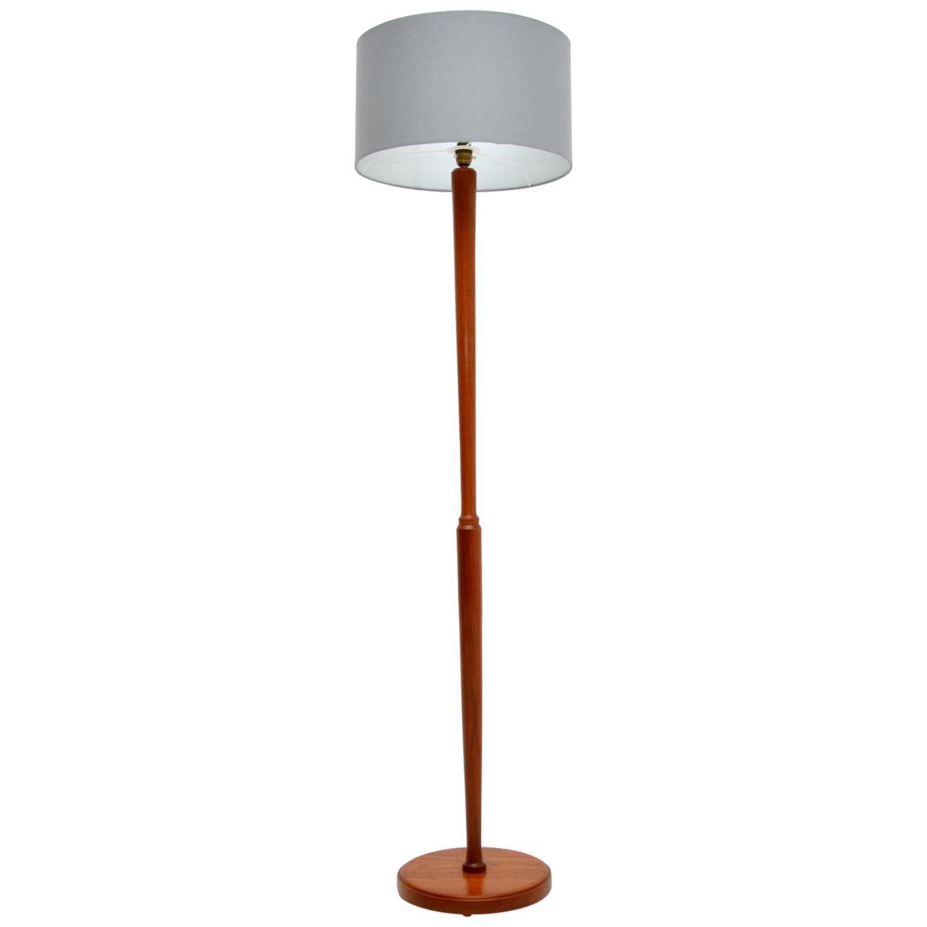 1960's Vintage Danish Teak Floor Lamp