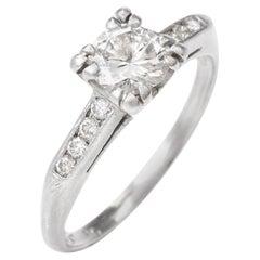 1960s Vintage Diamond Platinum Engagement Ring