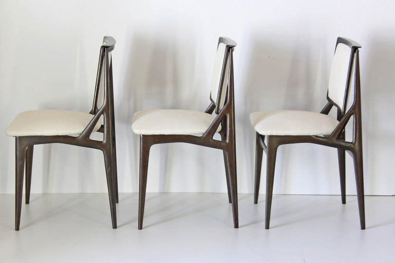 1960s Vintage Dining Chairs by Vittorio Dassi, Set of Six 13