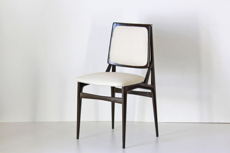 Mid-Century Modern 1960s Vintage Dining Chairs by Vittorio Dassi, Set of Six