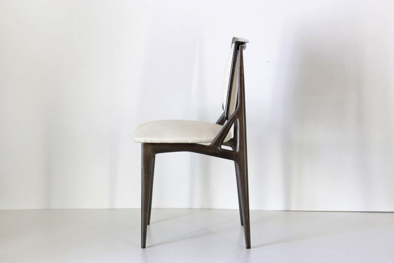 Italian 1960s Vintage Dining Chairs by Vittorio Dassi, Set of Six