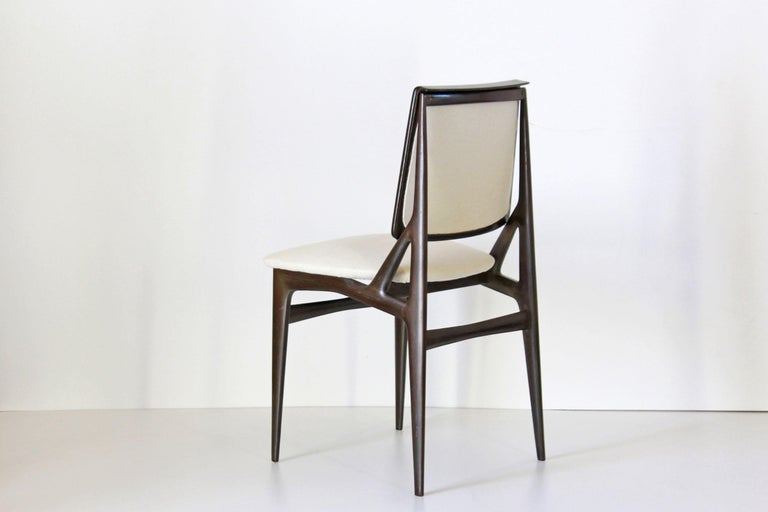 1960s Vintage Dining Chairs by Vittorio Dassi, Set of Six In Good Condition In Ceglie Messapica, IT