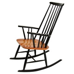 1960's Vintage Ebonised Elm Rocking Chair