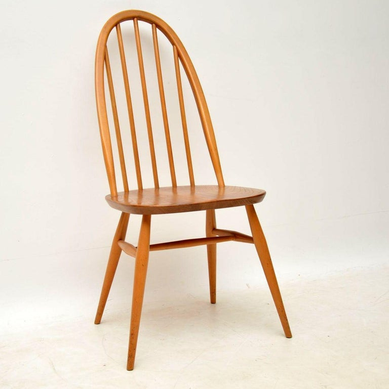 Dining Table 6 Chairs Sale: 1960s Vintage Ercol Grand Windsor Dining Table And Six