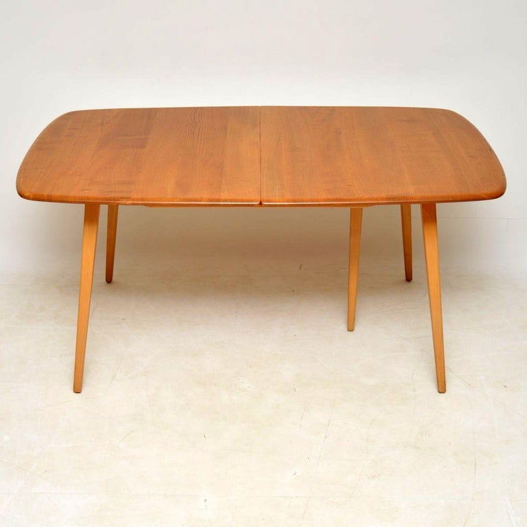 1960s Vintage Ercol Grand Windsor Dining Table And Six