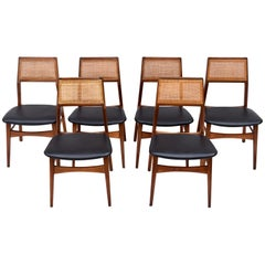 1960s Vintage Foster McDavid Walnut Dining Chairs, Set of 6