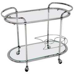 1960s Vintage French Chrome Drinks Trolley