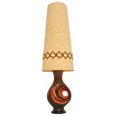 1960's Vintage German Ceramic Table Lamp