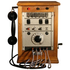 1960s Vintage Industrial Telephone Exchange Model CB-5