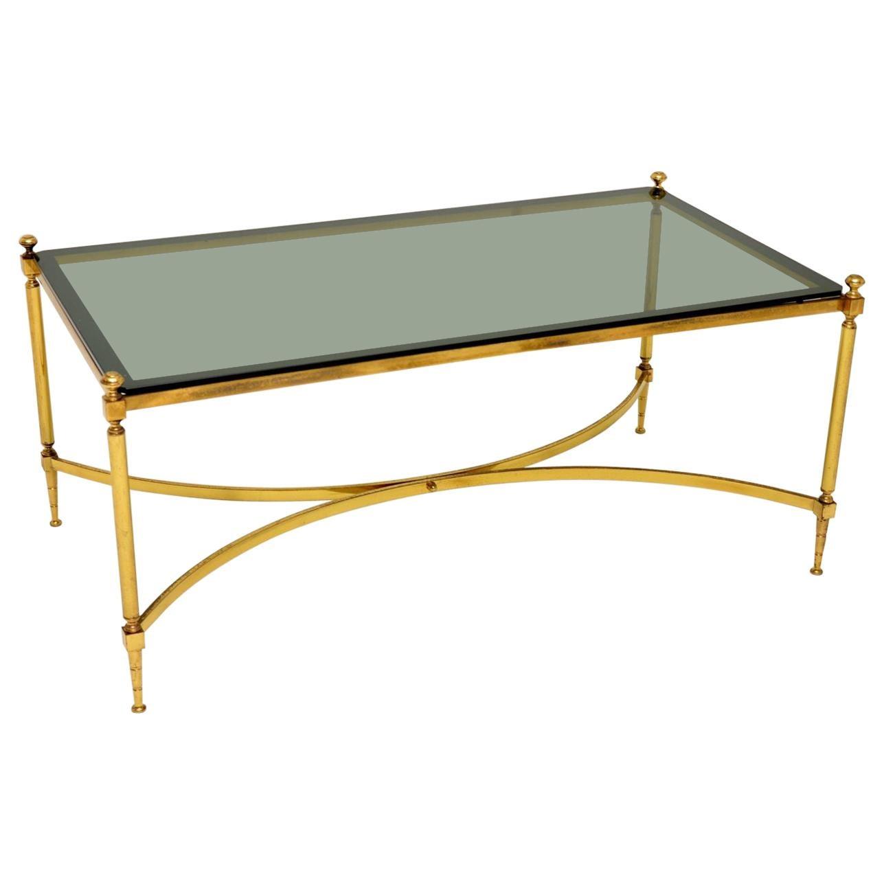1960s Vintage Italian Brass Coffee Table