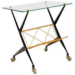 1960's Vintage Italian Side Table by Angelo Ostuni