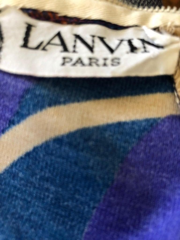 1960s Vintage Lanvin Dress Designed by Jules Francois Crahay For Sale 2