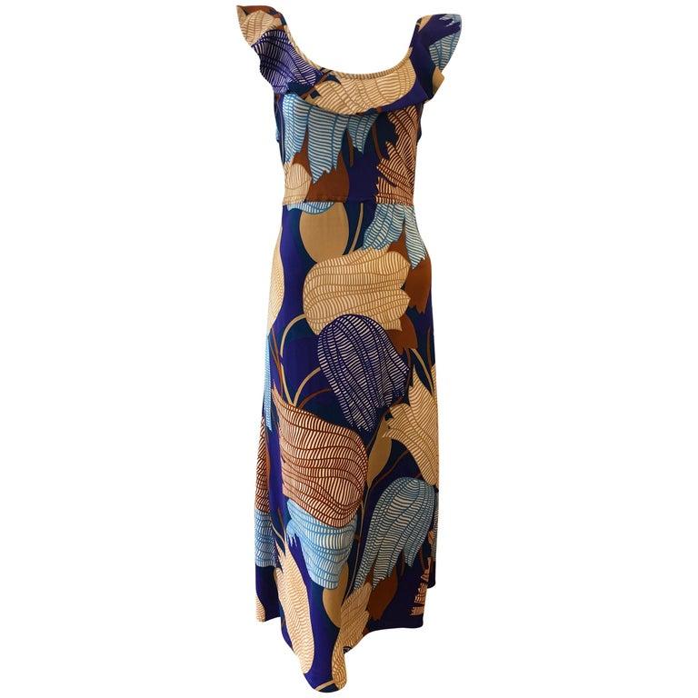 1960s Vintage Lanvin Dress Designed by Jules Francois Crahay For Sale