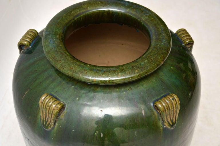 Mid-Century Modern 1960s Vintage Large Ceramic Earthenware Vase For Sale