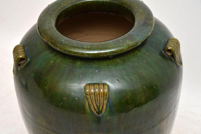 European 1960s Vintage Large Ceramic Earthenware Vase For Sale