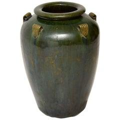 1960s Vintage Large Ceramic Earthenware Vase