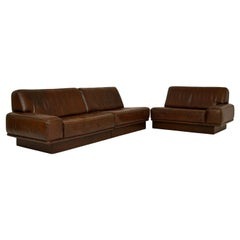 1960s Vintage Leather Modular Sofa by De Sede