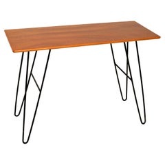 1960's Vintage Mahogany Hairpin Side / Console Table
