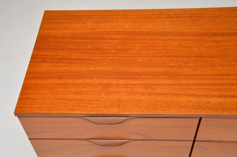 1960s Vintage Mahogany Sideboard or Chest of Drawers For Sale 4