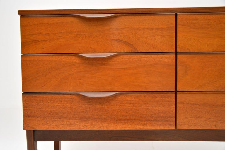 English 1960s Vintage Mahogany Sideboard or Chest of Drawers For Sale