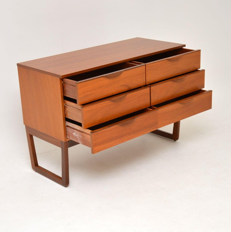 Mid-20th Century 1960s Vintage Mahogany Sideboard or Chest of Drawers For Sale