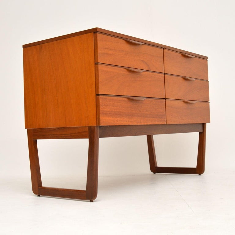 1960s Vintage Mahogany Sideboard or Chest of Drawers For Sale 1