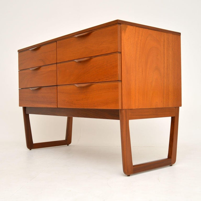 1960s Vintage Mahogany Sideboard or Chest of Drawers For Sale 2