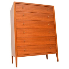 1960s Vintage Mahogany Tall Boy Chest of Drawers