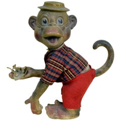 1960s Vintage Mugger the Monkey Rubber Toy Made in Italy by Pirelly for Rempel