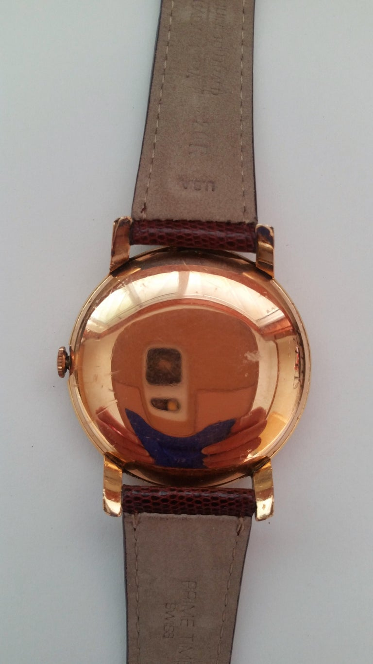 Vintage Omega watch 1960's Rose Gold Filled 35mm Dial Rose Gold Dial. Omega Rose Gold Watch 1960's Rose Gold Filled Leather Band Very Good Condition Rose Dial 35 mm Crystal (39 Diameter) 20 mm Leather Strap Vintage Omega watch 1960's in very good