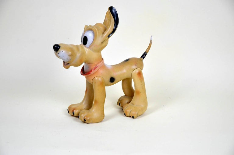1960s Vintage Original Disney Pluto Rubber Squeak Toy Made